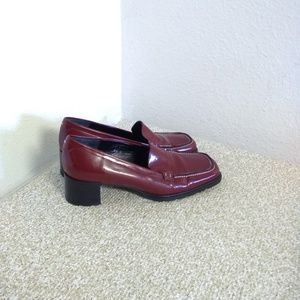 Coach Red Patent Leather Heeled Shoes